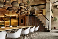chairs, interior, design, lights, space