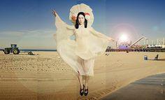 """Saint Monica"" | Global Yodel #design #postcard #santa monica #mimi haddon #global yodel"