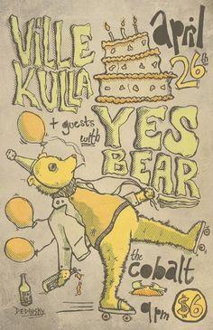 tumblr_m342snQQGH1rrnpnpo1_1280.jpg (792×1224) #chris #yes #illustration #dedinskey #bear