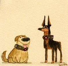 """""""Squirrel! DOG WEEK: Day 5 #scott #illustration #c"""