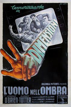 "Movie Poster of the Week: ""Man in the Dark"" on Notebook | MUBI #film #dimension #design #illustration #cinema #posters #vintage #art #hand #3d"