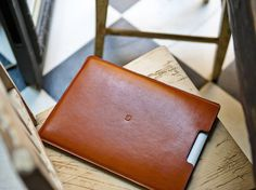 Leather MacBook Air 13″ Sleeve by Danny P. #tech #flow #gadget #gift #ideas #cool