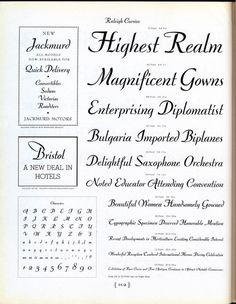 Willard T. Sniffin designed Raleigh Cursive for ATF in 1929. #typography