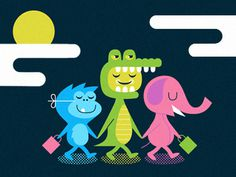 Dribbble - Night of the Living Zoo by Chris Parks #illustration