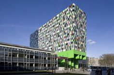Utrecht Netherlands and bright and colorful student residence #bright #architecture #art #exterior #buildings