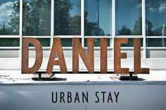 Logo and exterior signage designed by Moodley for Vienna and Graz based luxury hotel Daniel