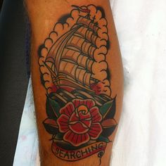 ourendlessdays: Mitch Love #rose #tattoo #ship #searching