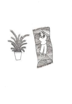 nello #illustration #black white