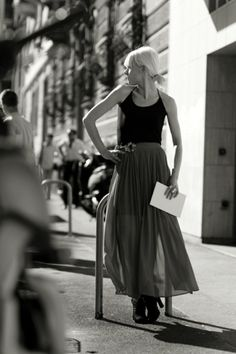 The Sartorialist #white #girl #black #sartorialist #blonde #and #italy