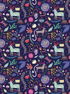 Pattern / Sarah Andreacchio #reindeer