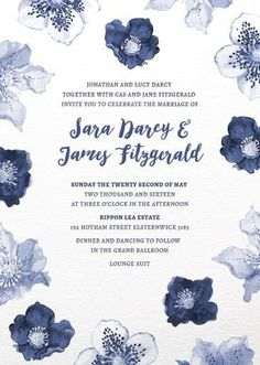 #paperlust #weddinginvitation #weddinginspiration #design #paper #card #print #letterpress #digitalcards #floral #blue