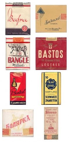 Awesome Vintage Cigarette Package Designs