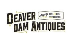 Beaver Dam Antiques. #mysterymeat #antiques #logo #typography