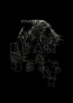 Bear Art Print #bear #typography