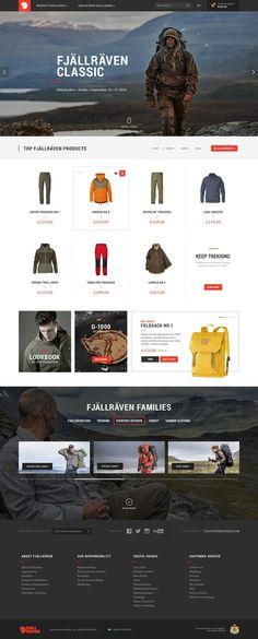Fjällräven Re-Design Concept #website #redesign