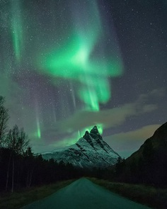 Northern Lights Dancing Above Northern Norway by Ole Salomonsen