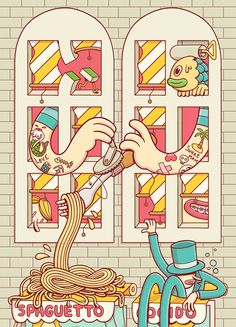 Brosmind City, by Brosmind #inspiration #creative #design #graphic #illustration #colorful