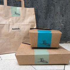 Baron restaurant identity - Mindsparkle Mag 1 / One over brand design studio designed Baron restaurant identity. #logo #packaging #identity #branding #design #color #photography #graphic #design #gallery #blog #project #mindsparkle #mag #beautiful #portfolio #designer