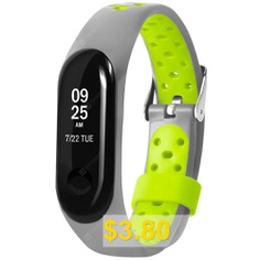Adjustable #Replacement #TPE #Band #Strap #for #Xiaomi #Mi #Band #3 #- #GRAY #GOOSE