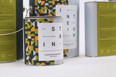 Aleksander Nielsen Paint Collection (Student Project) on Packaging of the World Creative Package Design Gallery #packaging #paint #pattern #geometric