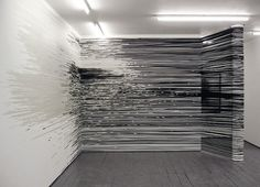 Monika Grzymala | SUMARRIA LUNN #abstract #tape #installation #grzymala #art #monika