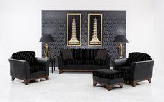 Upholstered lounge suite art of beauty by Finkeldei - www.homeworlddesign.com (9) #inspiration #lounge #homedecor #homedesign