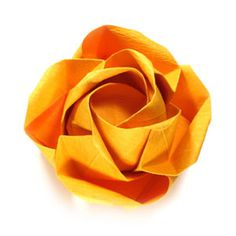 How to make an origami beauteous rose (http://www.origami-flower.org/howto-origami-rose.php) #origami #rose #origamirose