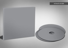 Grey cd box with cd template Free Psd. See more inspiration related to Template, Box, Cd, Psd, Grey, Templates, Material, Horizontal, Cd box and Psd material on Freepik.