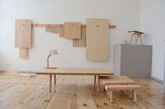 http://blog.leibal.com/furniture/wooden-peg-furniture/ #furniture #design #minimalism