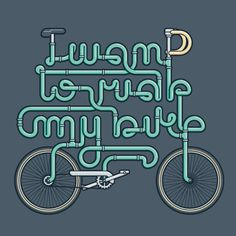Marco Romano (aka Goran) #illustration #bike #typography