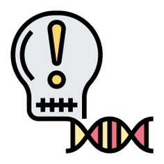 See more icon inspiration related to dna, gmo, contamination, warning sign, hazardous, exclamation point, hazard, dangerous, education, warning, exclamation mark and signs on Flaticon.