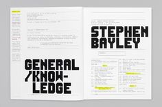 Booth-Clibborn Editions – Stephen Bayley: General Knowledge 2000 | Publication | Graphic Thought Facility #book