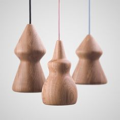 NOJAR Wood Pendant Lamp by Enrico Zanolla #lamp #design #pendant #wood #lighting