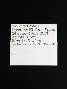 WOLKEN/CLOUDS Identity, design by OFF
