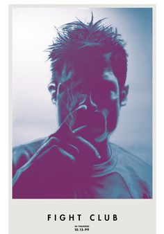 Tyler Durden Smoking #fight #poster #club