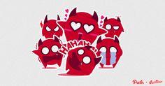 Devil: Path Sticker Design