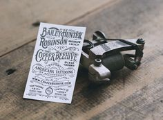 Expert Americana Tattooing | Two Arms Inc. #card #typography