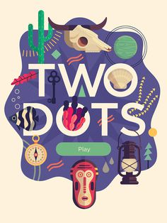 Two Dots Title - Owen Davey Illustration #illustration