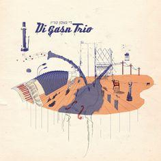 Di Gasn Trio Album cover Design by Tom Reznikov