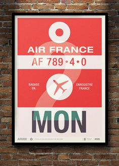 Flight Tag Prints #flight #tag #poster #typography