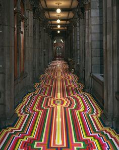 inspireworks #stripes #colors #art #floor