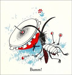 Sumse Sumsebrumm - 50 Watts #drum #insect #illustration #exhausted #beat #bang