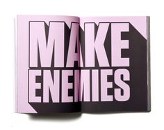 Make Enemies & Gain Fans xe2x80x93 Book on Behance #enemies #make #book #cover #snask #gold #foil