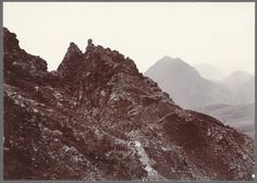 All sizes | Þórsmörk. - Rocks on arête. Head of Stóriendi. | Flickr - Photo Sharing! #old #sepia #rock #hill #vintage