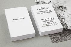 Truenorth / Icelandic Film Production on Behance #white #business #branding #card #black #and #typography