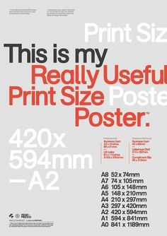 Mash Creative - Shop - Print Size Poster #type #poster #mash creative