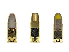 sabine pearlman photography cross sections of ammunition designboom #gunfire #cross #gun #gunpowder #pearlman #photography #section #bullet #sabine
