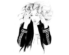 Gat Rimon untitled 07 #girl #b&w #feeling #illustration #fashion
