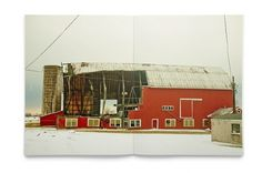 winterzine - DLA #red #zine #barn #photographer #photography #merriam #brian #magazine #winter