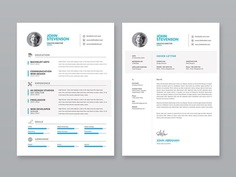 Free Minimalist Vector CV Template for Any Job Opportunity